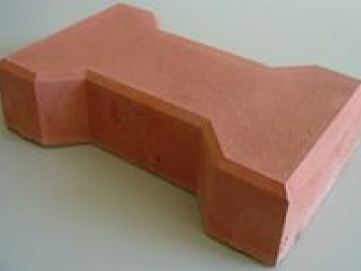 Тротуарная плитка 1 Ф20.16.8 мац (катушка) красная