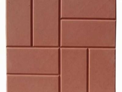 Тротуарная плитка К 30.8 мац(квадрат)красная