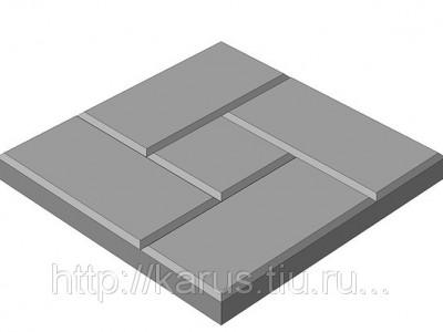 Тротуарная плитка К 30.8 ма(квадрат)